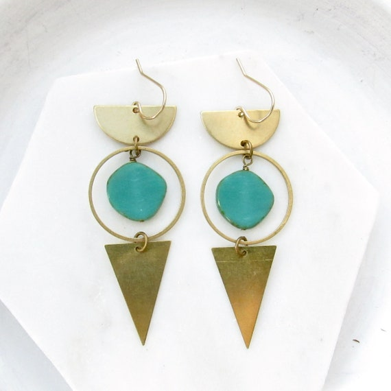 Impact Earrings > Turquoise