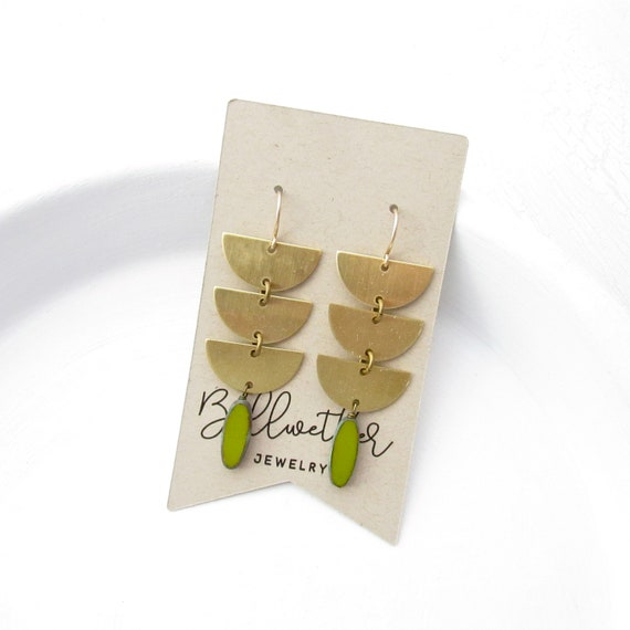 WHOLESALE LISTING // Abstract Earrings - Olive // EABO