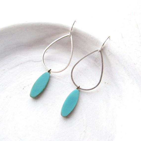 WHOLESALE LISTING // Silver Balance Earrings - Turquoise // EBTS