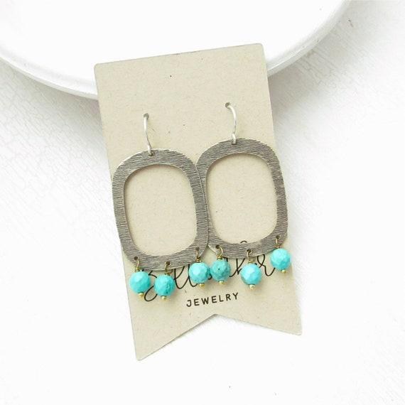 Wholesale Listing // Out West Earrings - Turquoise Magnesite // EOWT