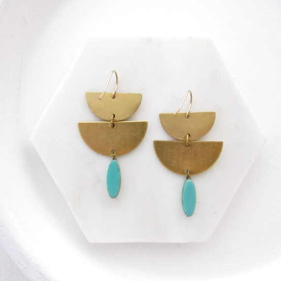 Collage Earrings > Turquoise