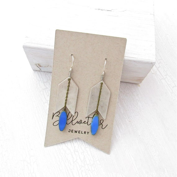 WHOLESALE LISTING // Arrow Earrings - Blue // EAB