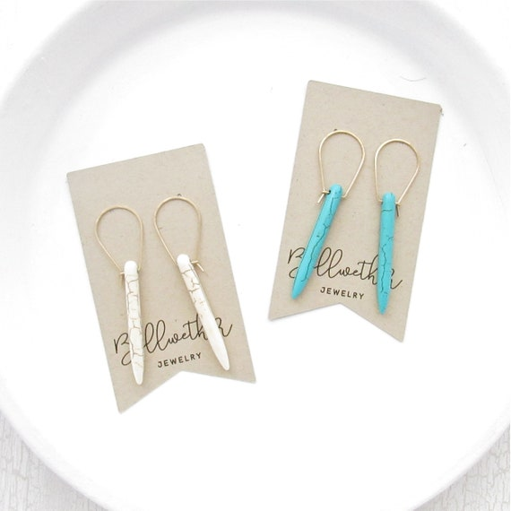 Wholesale Listing // Turquoise Dagger Earrings //  ETDG