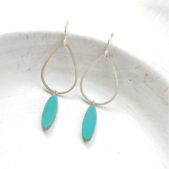 WHOLESALE LISTING // Silver Balance Earrings - Turquoise // ESBT
