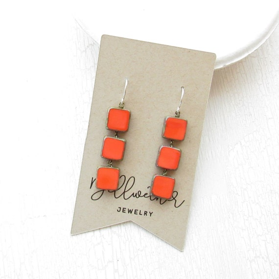 WHOLESALE LISTING // Stacked Earrings > Coral // ESC