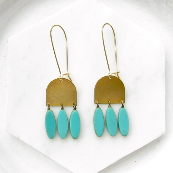 WHOLESALE LISTING // Cascade Earrings - Turquoise // ECT