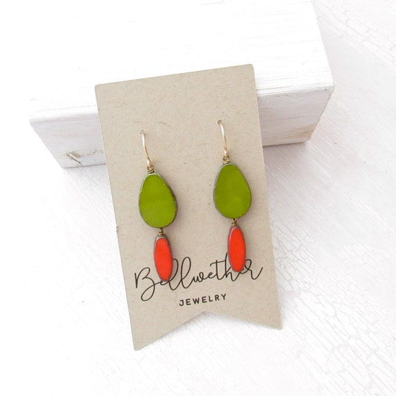 WHOLESALE LISTING // Pigment Earrings - Olive // EPO
