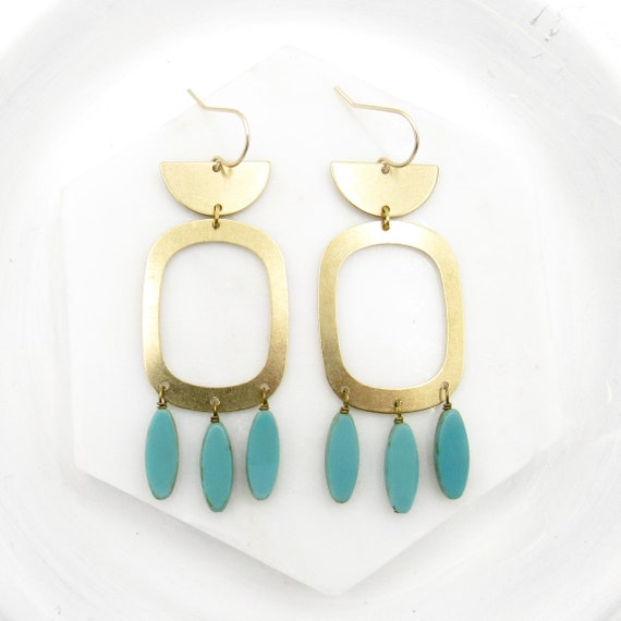Night Out Earrings > Turquoise