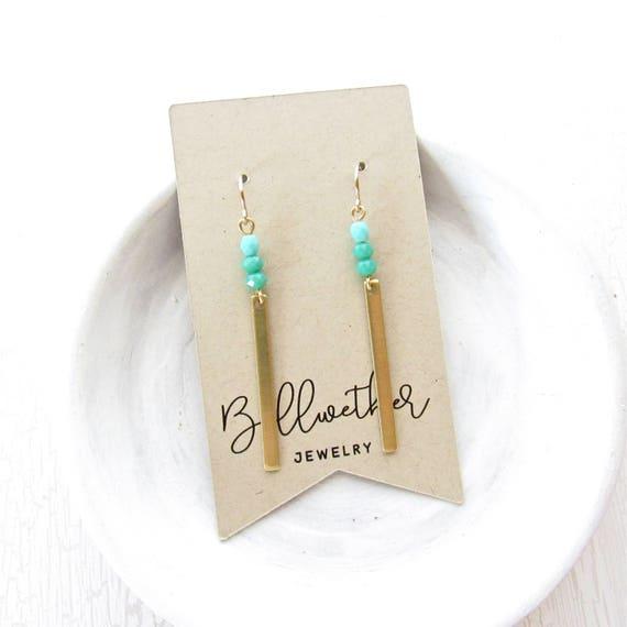 WHOLESALE LISTING // Reflection Earrings - Turquoise // ERT