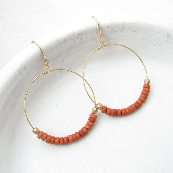 WHOLESALE LISTING // Dainty Hoop Earrings - Sienna // EDHS