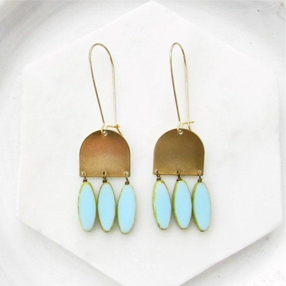 WHOLESALE LISTING // Cascade Earrings - Blue // ECB