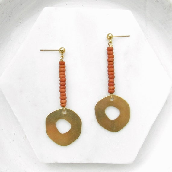 Pendulum Earrings > Burnt Sienna