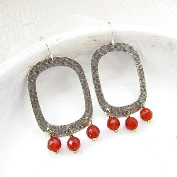 Out West Earrings > Carnelian