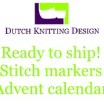 Stitch markers advent calendar or 12 days of christmas 2018, row counter, gemstone progress keepers, gifts for knitters, crochet gifts,
