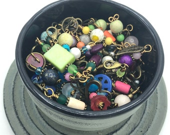 stitch markers surprise pack 10-20-30, bronze progress keepers for knitting and crochet, knitting accessories and notions, knitting present