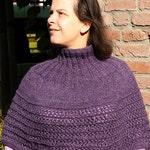 Pdf knitting pattern poncho Eliseth, capelet, cape, cowl, neckwarmer