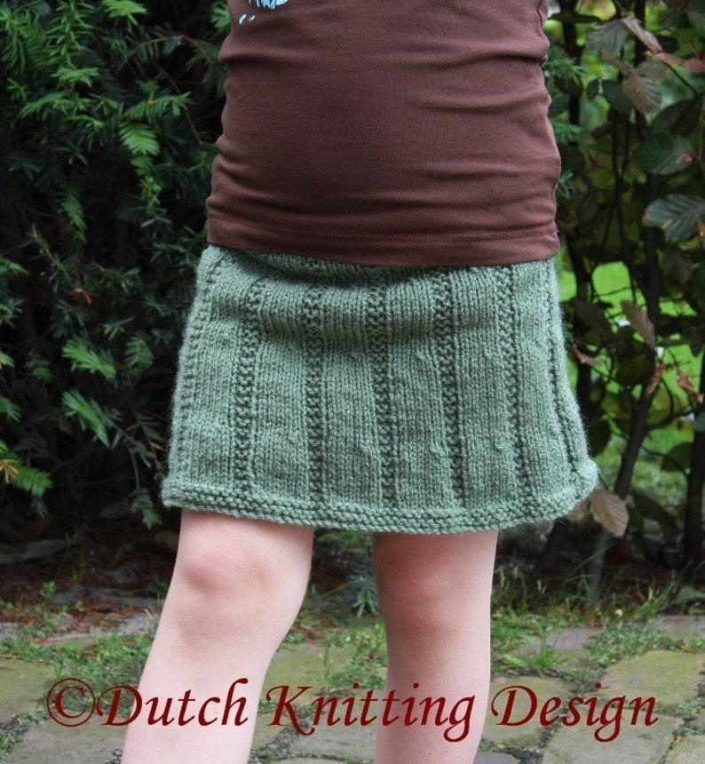 PDF knitting pattern skirt Anna skirt 8 sizes 2-10 years image 0