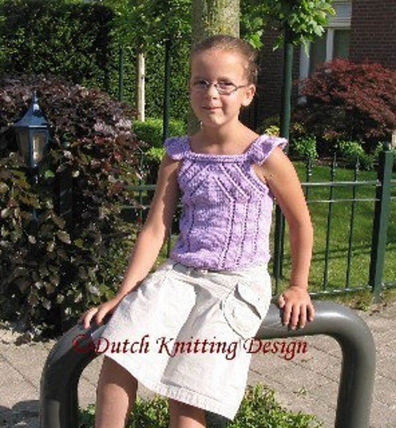 Tank top knitting pattern childrens tee knit pattern knitted image 0