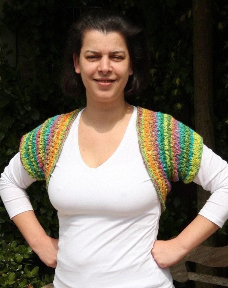 Easy shrug knitting pattern lace knit bolero pattern aran image 0