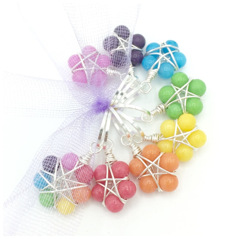 Rainbow stitch markers for knitting and crochet snag free image 0