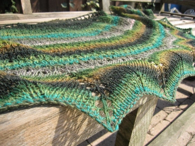 Shawl knitting pattern shawl knit pattern noro yarn lace image 0