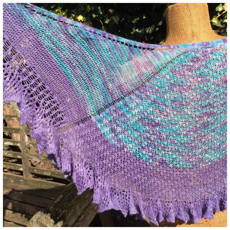 Lace shawl knitting pattern with beads victorian lace knit image 0