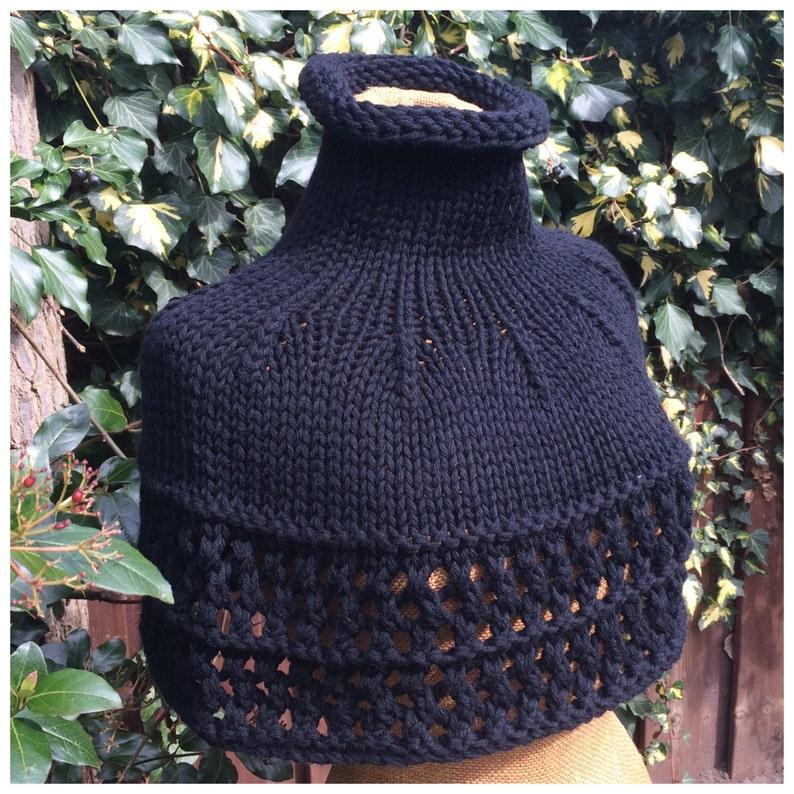 PDF knitting pattern Cava Capelet sizes XS-XXL victorian image 0