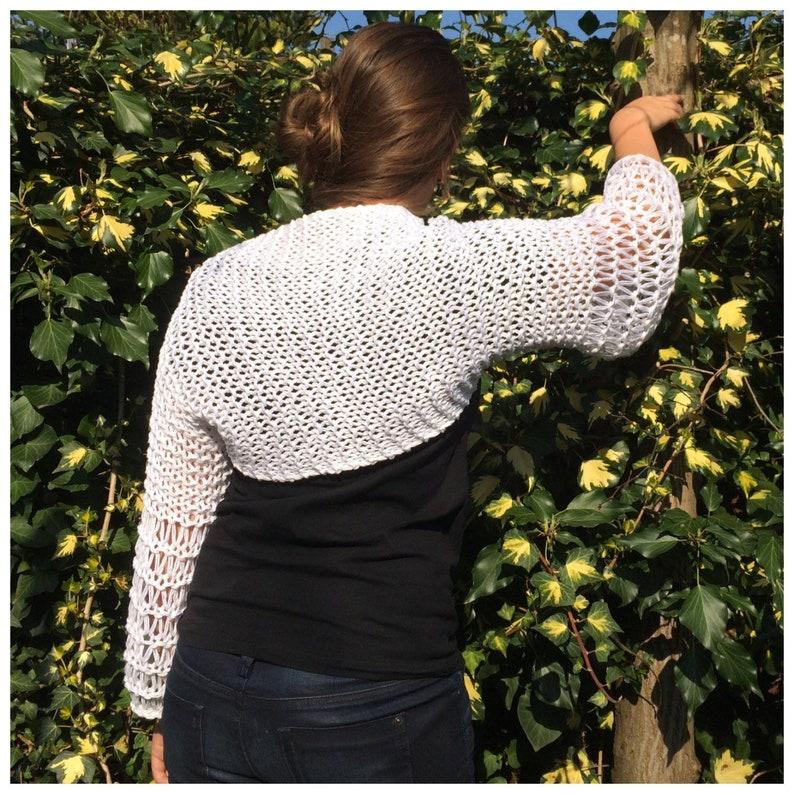 pdf knitting pattern shrug bolero bulky knit summer image 0