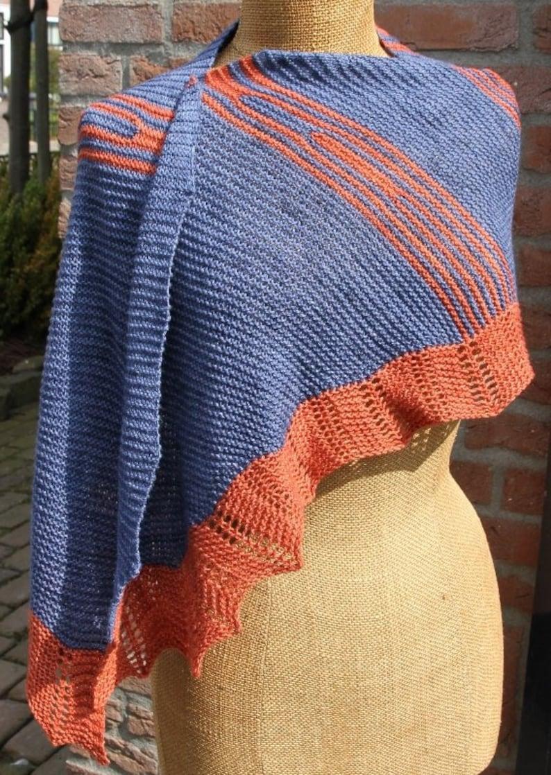 Garter Stitch Scarf knitting pattern download pdf shawl easy image 0