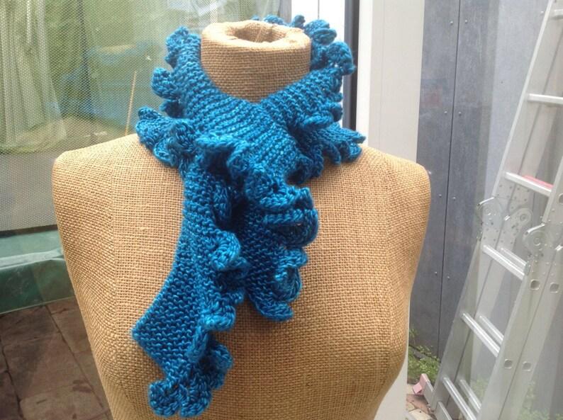 Scarflette Easy Knitting Pattern For Garter Stitch Knitted Etsy