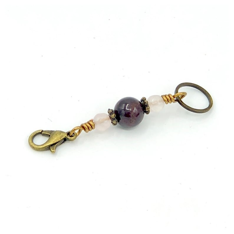 Garnet stitch marker for knitting and crochet multi purpose image 0