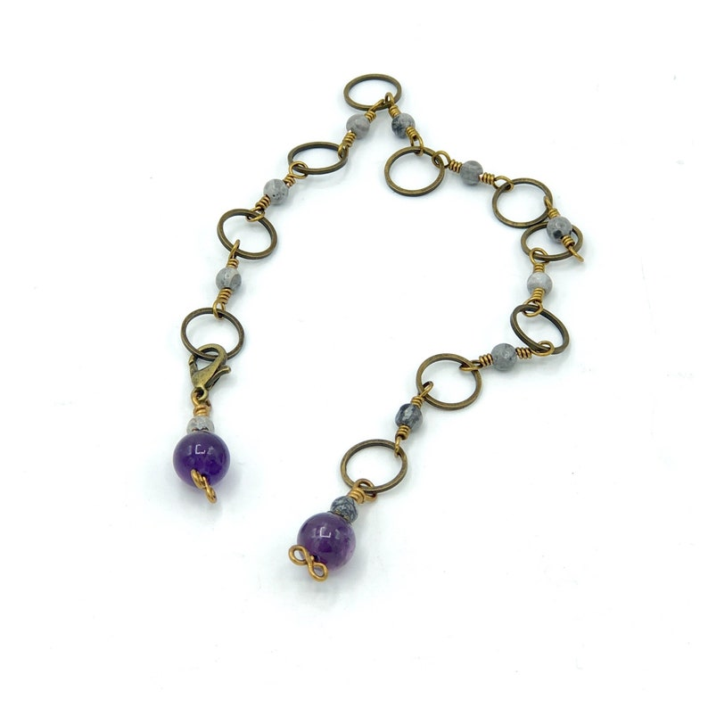 Amethyst knitting row counter chain abacus knit counter snag image 0