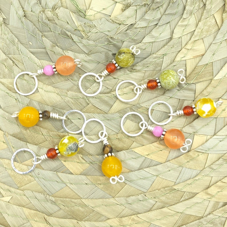 Stitch markers for knitting set of 8 pieces crochet snag free image 0