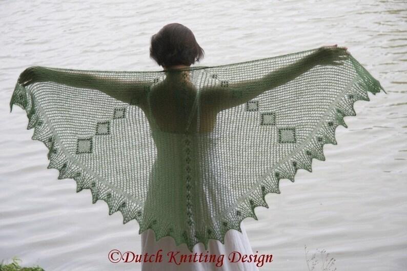 Pdf Knitting Pattern Shawl Scarf Scarflette Shawlette Etsy