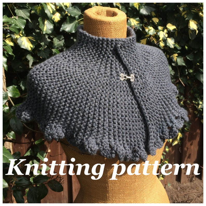 PDF knitting pattern Victoria capelet knitted cape victorian image 0