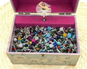 stitch markers surprise pack 10-20-30, silver progress keepers for knitting and crochet, knitting accessories and notions, knitting present