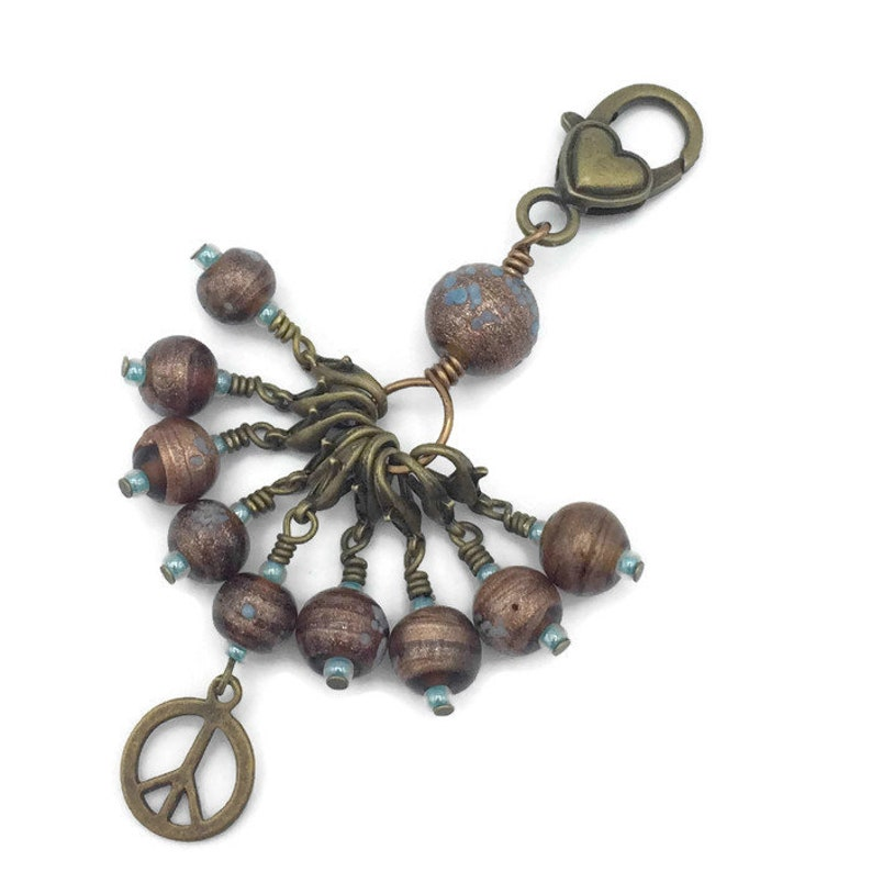 Snag free removable stitch marker set of 9 in bronze and image 0