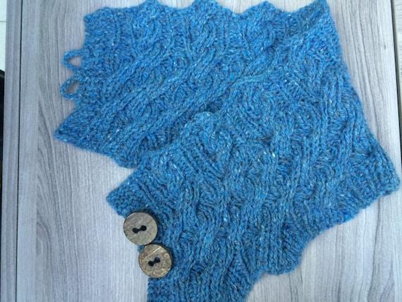 Pdf Knitting Pattern Scarf Cowl Scarflette Reversible Etsy