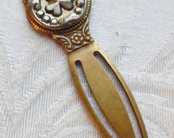 Bookmark- Antique Button- Clover