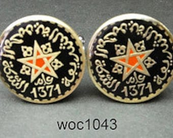 Morocco coin cufflinks 20mm