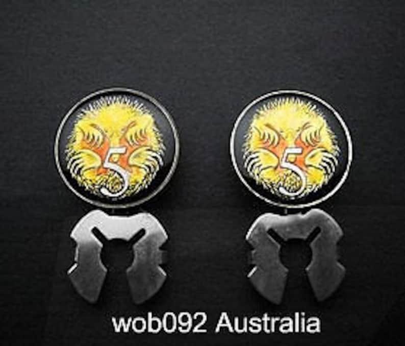 button covers Australia enamelled coin  5 cent Short-Beaked Spiny Anteater 18mm