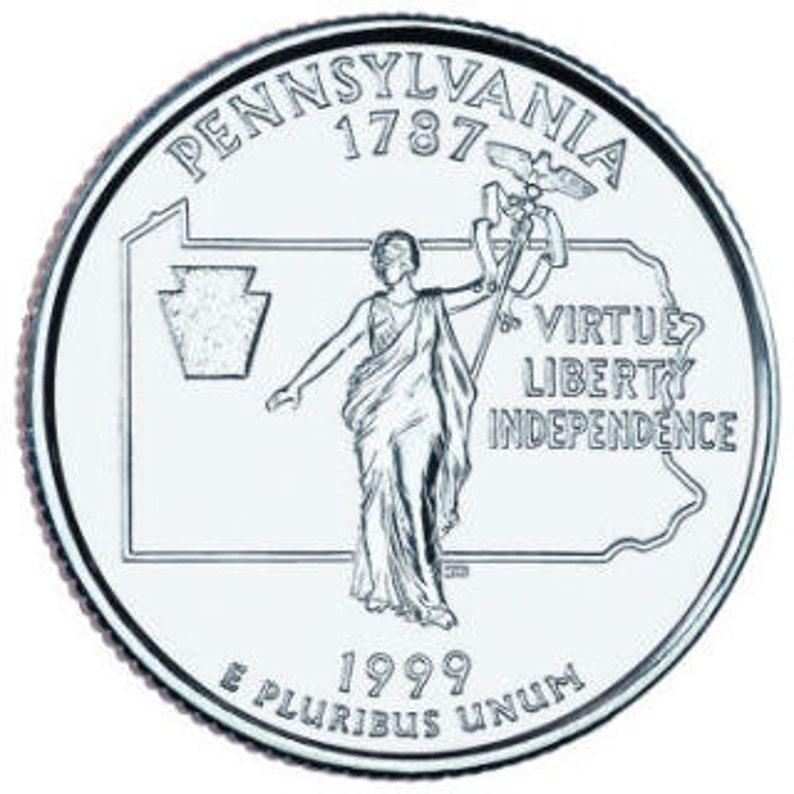 America the Beautiful Quarter  Gettysburg National Military Park located  in Pennsylvania State 24mm USA Cufflinks