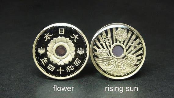 22 mm men gift Japan coin cufflinks