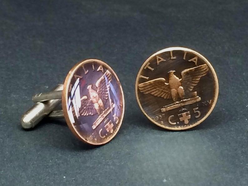 Italy coin cufflinks  19mm.
