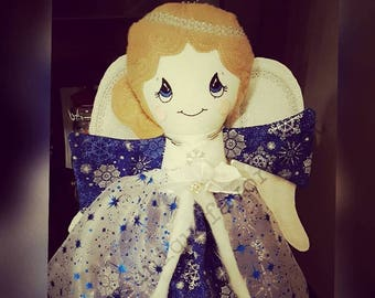 """Custom Handmade Angel Doll 18.5"""", 15"""" or 11"""" ~ Each is unique, one of a kind! Use as a tree topper, display or children's toy. Choose colors"""