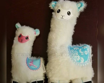 Handmade Llama super soft stuffed doll! Each is unique, one of a kind! Fully washable! Alpaca 3 sizes available. Custom colors. Free initial