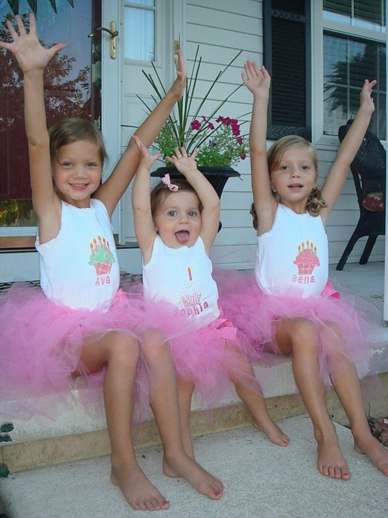 Custom Tutu Kids Set Personalized for Birthdays and Photo image 0
