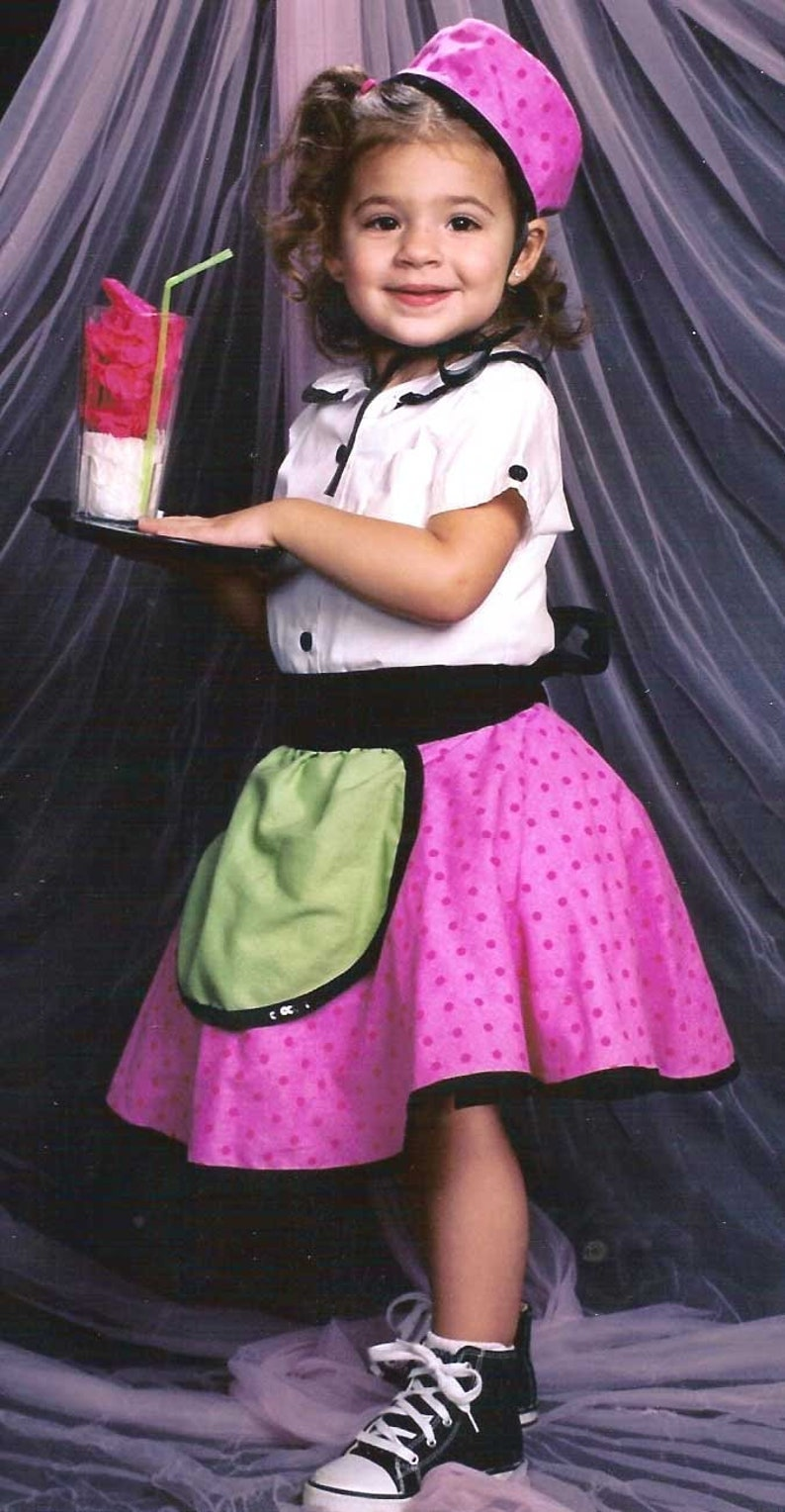 Custom Car Hop Cutie Costume with Accessories Handmade Resell image 0