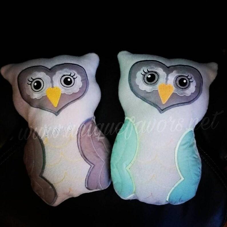 Handmade Washable Fleece Owl with FREE optional image 0