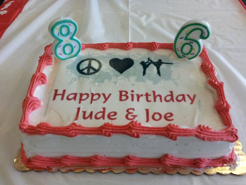 Custom Cake Design File for Edible art on Cake or Cupcakes image 0